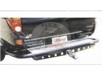 Защита заднего бампера (дуга) MITSUBISHI L200/TRITON (2006-2014) с подножкой MS-B06102