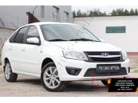Защитная сетка и заглушка переднего бампера Lada (ВАЗ) Granta лифтбек 2014-2018 (I дорестайлинг)