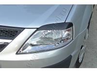 Накладки на передние фары (Реснички) Lada (ВАЗ) Largus фургон 2012-2019